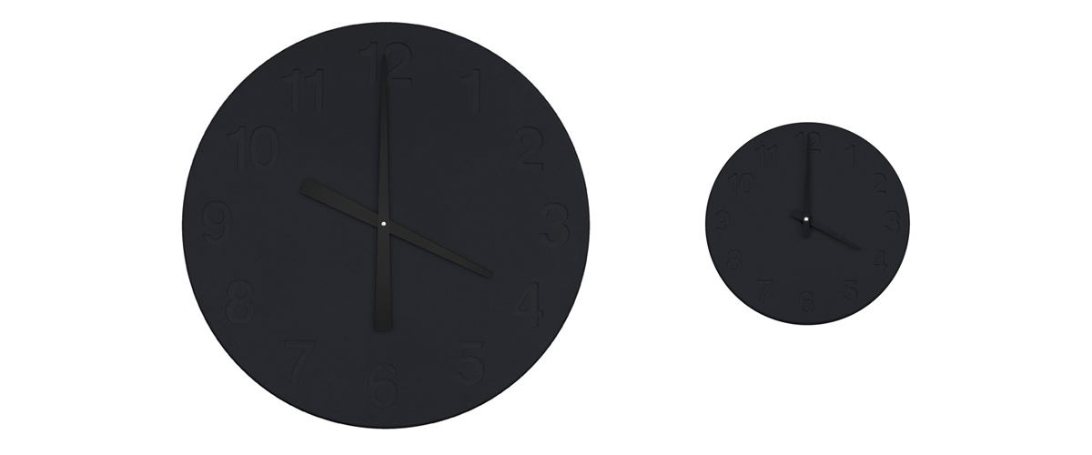 Chiaroscuro Clock Black